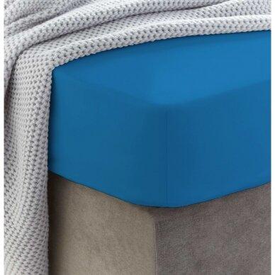 Frotinė paklodė su guma (Mėlyna)