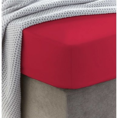Frotinė paklodė su guma (Raudona)