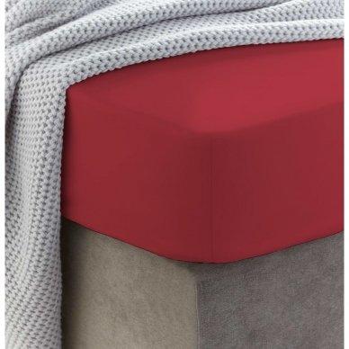 Frotinė paklodė su guma (Bordo)