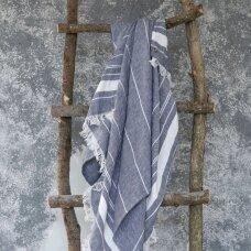 Lengvas lininis rankšluostis (blue), 110x200 cm