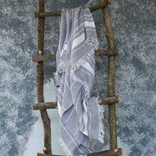 Lengvas lininis rankšluostis (grey), 110x200 cm