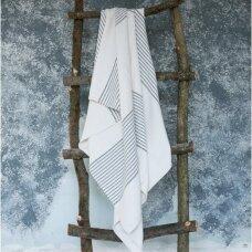 Lengvas puslinis rankšluostis (white), 100x215 cm