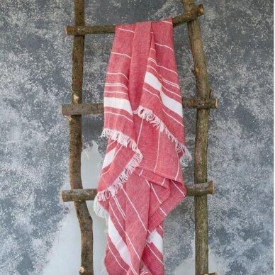 Lengvas lininis rankšluostis (red), 110x200 cm