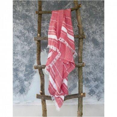 Lengvas lininis rankšluostis (red), 110x200 cm 2