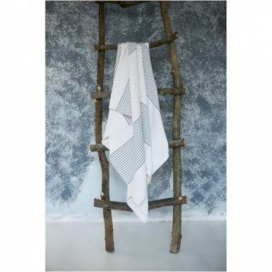Lengvas puslinis rankšluostis (white), 100x215 cm 2