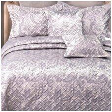 """Lovatiesė """"Pilkai Violetiniai Kerai"""", 220x240 cm (su užvalkaliukais)"""