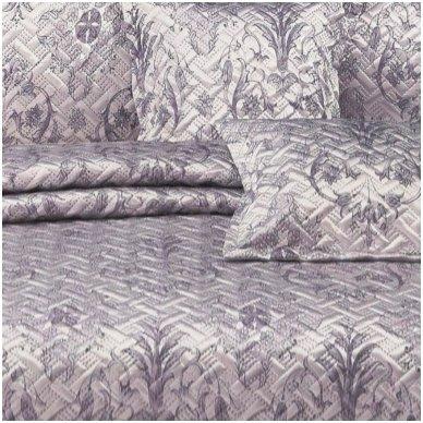 """Lovatiesė """" Pilkšvai violetiniai sidabro kerai"""", 220x240 cm (su užvalkaliukais) 3"""