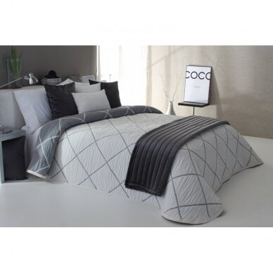 "Dvipusė lovatiesė ""Damira"", 250x270 cm (pilka) 2"