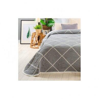 "Dvipusė lovatiesė ""Damira"", 250x270 cm (pilka) 4"