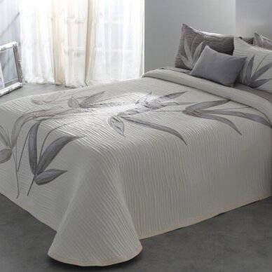 """Dvipusė lovatiesė """"Švelniosios šaklėlės"""", 250x270 cm + 2 užvalkaliukai pagalvėms"""