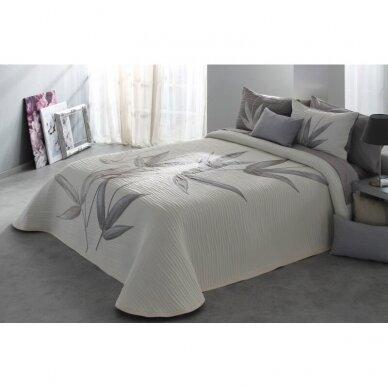 """Dvipusė lovatiesė """"Švelniosios šaklėlės"""", 250x270 cm + 2 užvalkaliukai pagalvėms 2"""