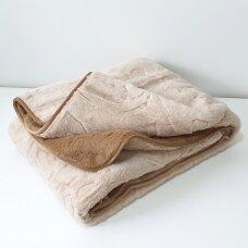 """Merinosų vilnos antklodė """"KAMILĖ"""" (dvipusė), 200x220 cm"""