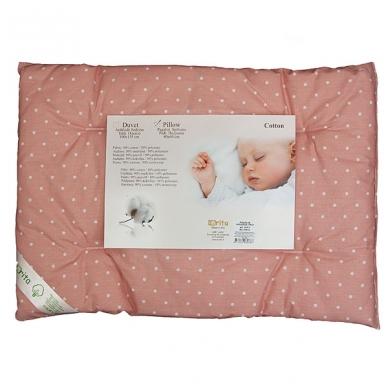 Medvilninė pagalvė kūdikiui, 40x60 cm (rožinė)