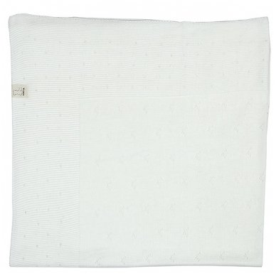 "Medvilninis pledas ""Balta snaigė"", 100x110 cm 2"