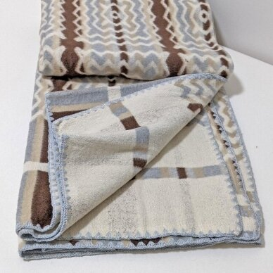 "Medvilninis pledas ""Brown"", 140x205 cm (dvipusis) 5"