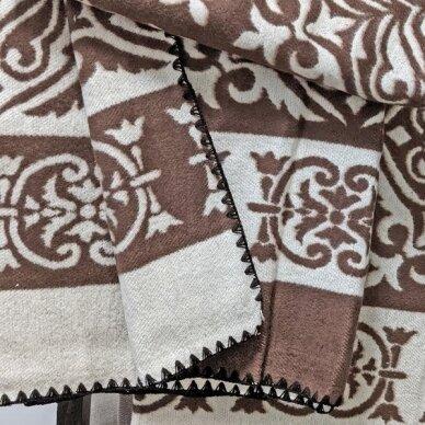 "Medvilninis pledas ""Kokos"", 140x205 cm (dvipusis) 4"