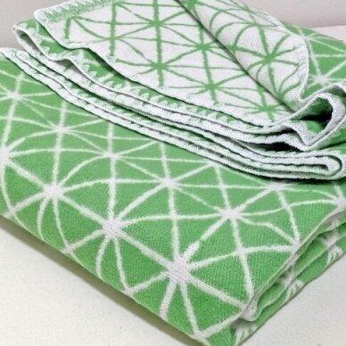 """Medvilninis pledas """"Green"""", 140x205 cm (dvipusis) 2"""