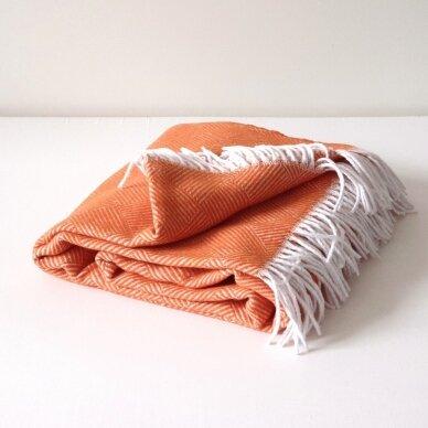 "Medvilninis pledas ""Orange Ibiza"" 140x200 cm 2"