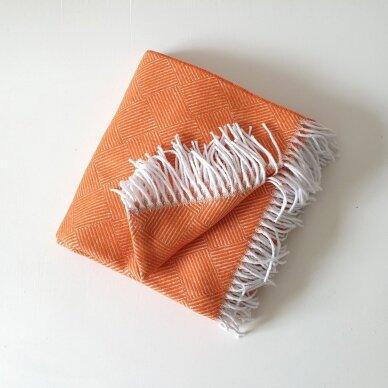 "Medvilninis pledas ""Orange Ibiza"" 140x200 cm 3"