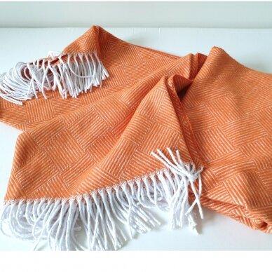 "Medvilninis pledas ""Orange Ibiza"" 140x200 cm 4"