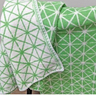"""Medvilninis pledas """"Green"""", 140x205 cm (dvipusis) 6"""