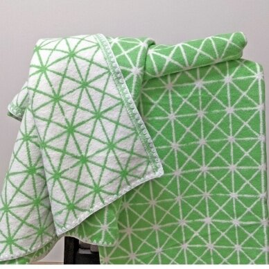 """Medvilninis pledas """"Green"""", 140x205 cm (dvipusis) 4"""
