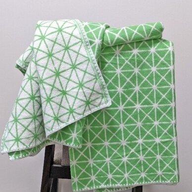 """Medvilninis pledas """"Green"""", 140x205 cm (dvipusis) 5"""