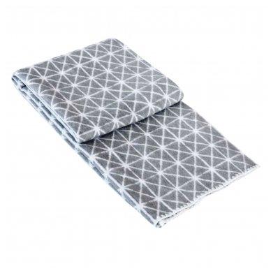 """Medvilninis pledas """"Summer Dark Grey"""" 140x205 cm"""