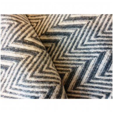 """Merino vilnos pledas """"Zigzag Grey"""", 140x200 cm 3"""