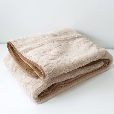 """Merinosų vilnos antklodė """"KAMILĖ"""" (dvipusė), 140x205 cm 4"""