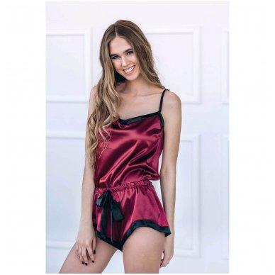Moteriška pižama (raudona) 2