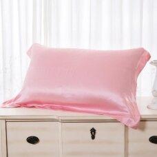 Mulberry šilko pagalvės užvalkalas (rožinė), 19 momų (M/M)