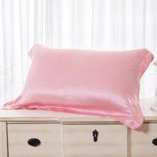 Mulberry šilko pagalvės užvalkalas (rožinė), 22 momai (M/M)