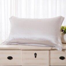 Mulberry šilko pagalvės užvalkalas (balta), 22 momai (M/M)