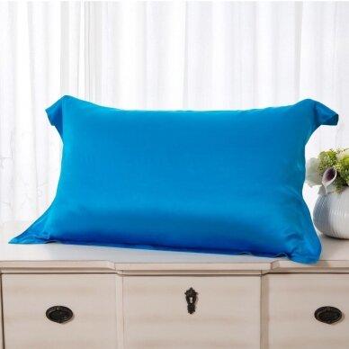 Mulberry šilko pagalvės užvalkalas (mėlyna), 22 momai (M/M)