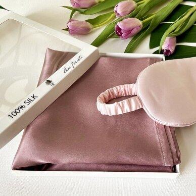 Mulberry šilko pagalvės užvalkalas (pelenų rožė)