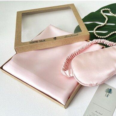 Mulberry šilko pagalvės užvalkalas (švelniai rožinė)