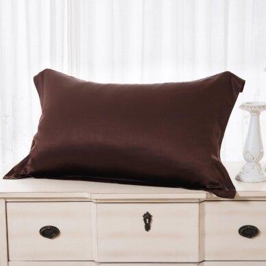 Mulberry šilko pagalvės užvalkalas (ruda), 19 momų (M/M)