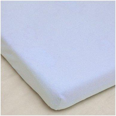 Neperšlampanti frotinė paklodė su guma, 60x120 cm (balta)