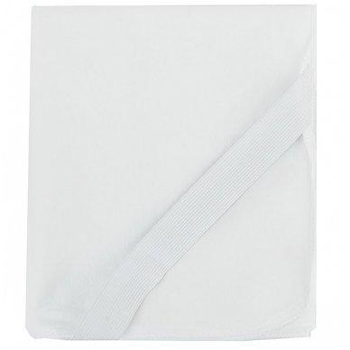 Neperšlampanti medvilninė paklodė su gumelėmis kampuose, 60x120 cm (balta) 2