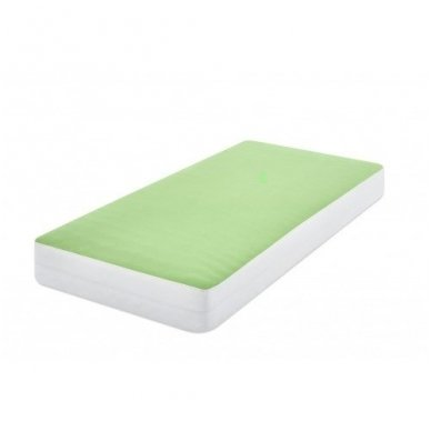 Neperšlampanti paklodė su guma (žalsva) 2