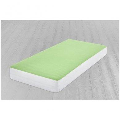 Neperšlampanti paklodė su guma (žalsva) 3