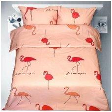 """Patalynės komplektas """"Flamingo šokis"""" (rausva)"""
