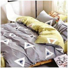 """Patalynės komplektas """"Laimės Trikampis"""", 4 dalių, 200x220 cm"""