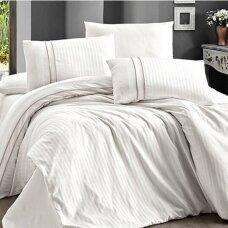 """Patalynės komplektas """"Stripe Style Beyaz"""", 6 dalių, 200x220 cm"""