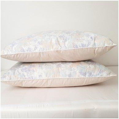 Žąsų pūkų ir plunksnų pagalvė (15%-pūkų, 85%-plunksnų), 68x68 cm 3