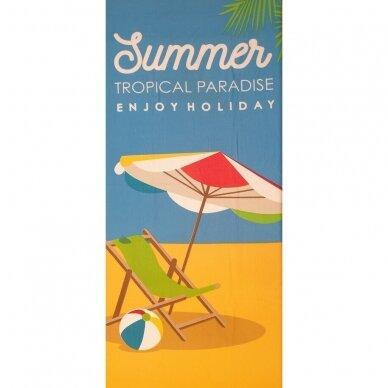 "Paplūdimio rankšluostis ""Vasara"", 86x170 cm"