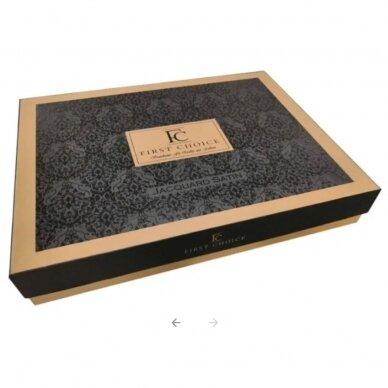 """Patalynės komplektas """"Stripe Style Cikolata"""", 6 dalių, 200x220 cm 5"""