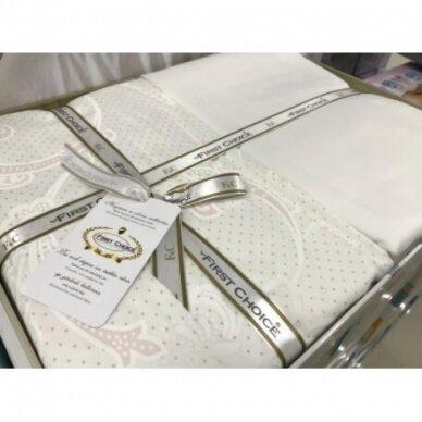 """Patalynės komplektas """"Carmina Beyaz White"""", 6 dalių, 200x220 cm 3"""