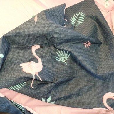 """Patalynės komplektas """"Flamingo prisilietimas"""", 2 dalių, 140x200 cm 3"""